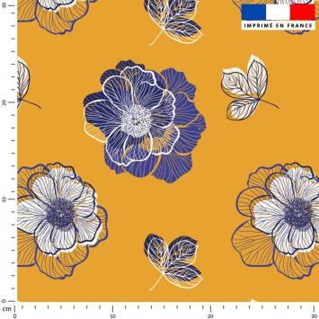 Multi-fleurs - Fond ocre