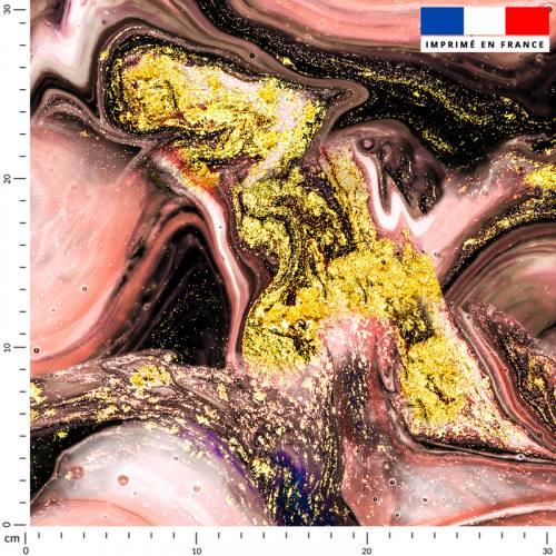 Magma rose chair et poudre d'or - Fond noir