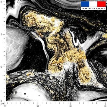 Magma gris et poudre d'or - Fond noir
