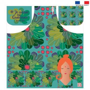 Kit canvas pour tablier motif mandala figues - Création Chaylart