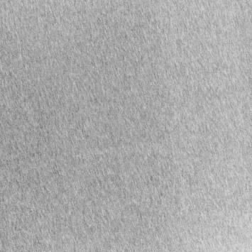 coupon - Coupon 30cm - Tissu molleton gris chiné