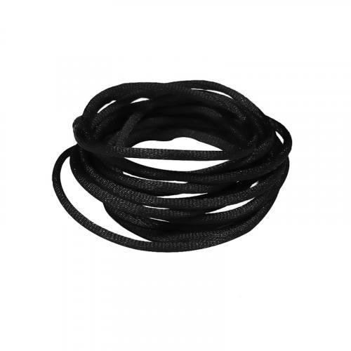 Cordon queue de rat noire 2 mm