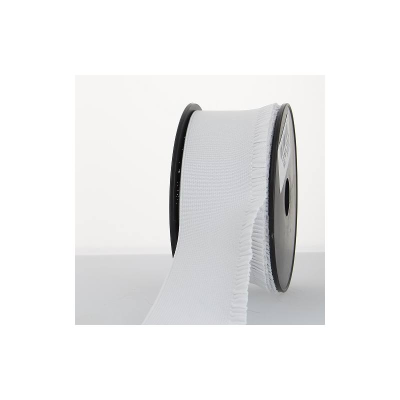 Elastique blanc 60mm bord côte pour jupe