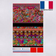 Kit pochette multicolore motif ethnique effet brodé