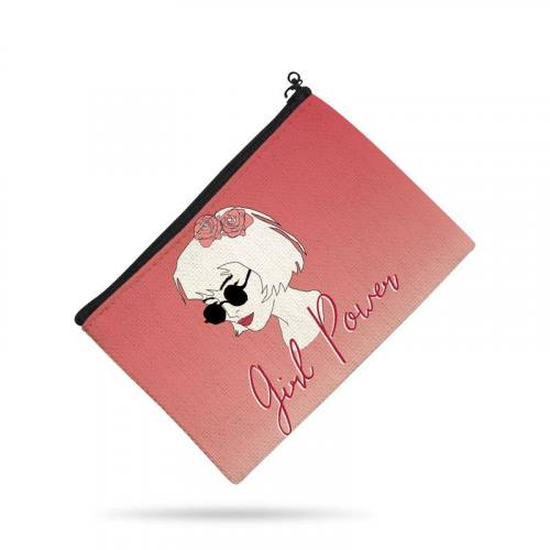 Kit pochette rose motif girl power