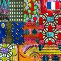 Maille scuba motif wax mutlicolor