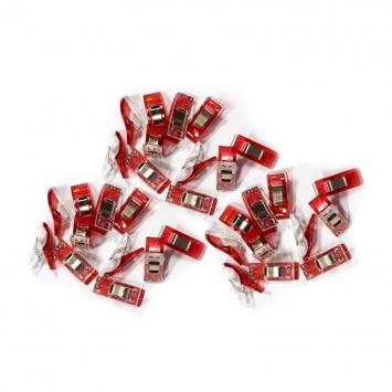 Pinces rouges x15 pour tissu