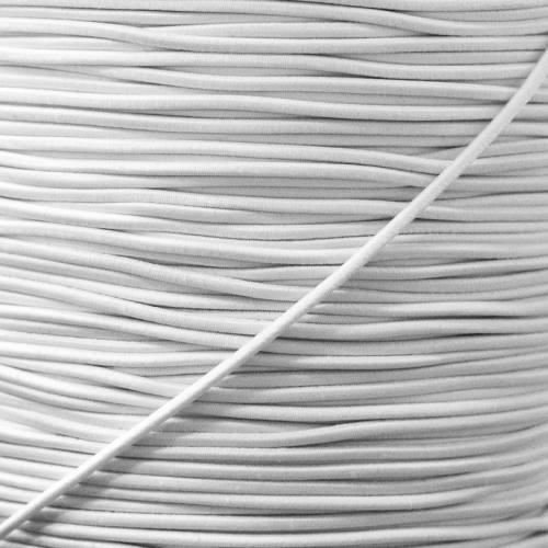 Elastique rond blanc 2,5 mm
