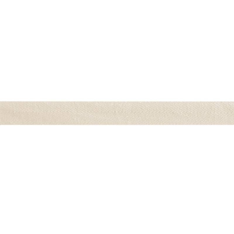 Ruban sergé beige 15 mm