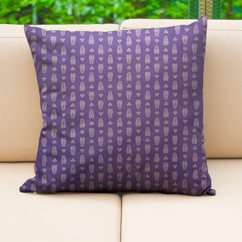 Coton enduit lavande motif cigale blanche Oeko-tex