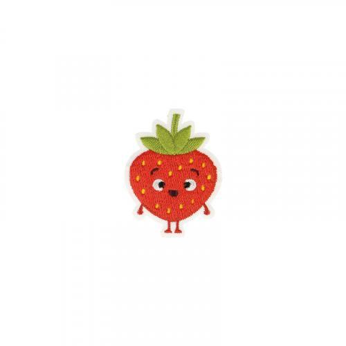 Écusson brodé fraise enfantin