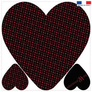 Coupon 45x45 cm forme coeur motif LOVE