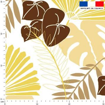 Palme exotique sable - Fond écru - Création Marie-Eva