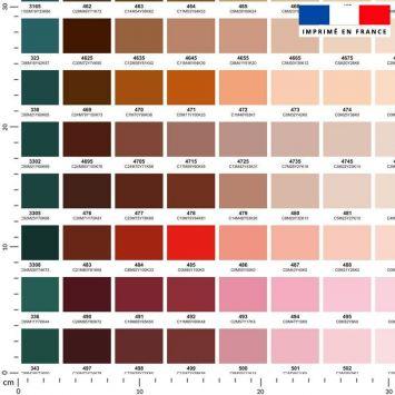 Tissu imperméable motif nuancier multicolore