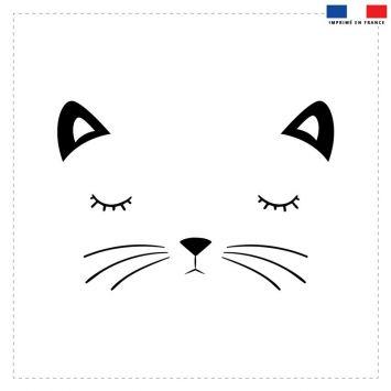 Coupon 45x45 cm motif chat