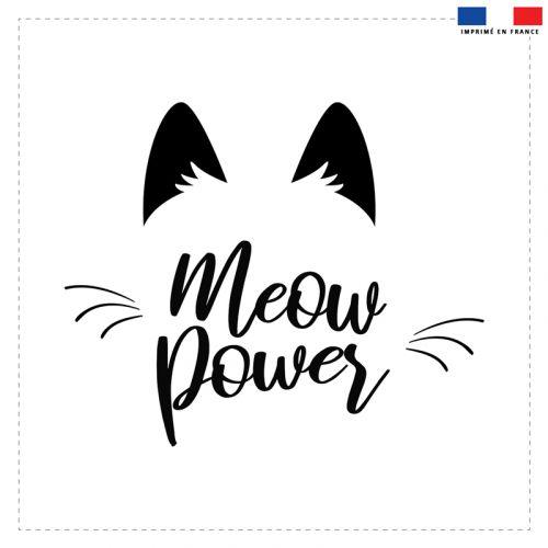 Coupon 45x45 cm motif meow power