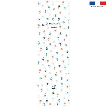 Coupon 45x150 cm tissu imperméable motif palmier pour transat
