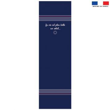 Coupon 45x150 cm tissu imperméable motif marinière pour transat