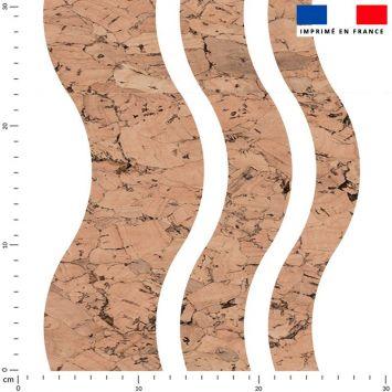 Tissu imperméable motif waves et effet texture liège