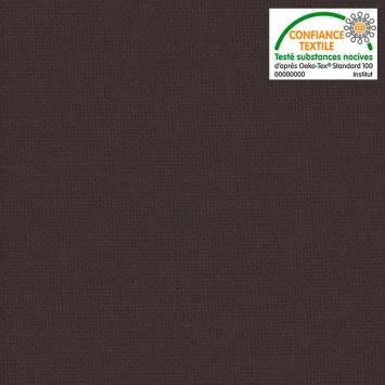 coupon - Coupon 48cm - Toile coton marron glacé grande largeur