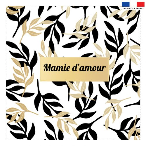 Coupon 45x45 cm motif mamie d'amour
