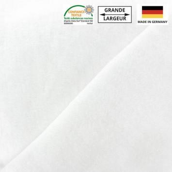 Tissu molleton blanc grande largeur