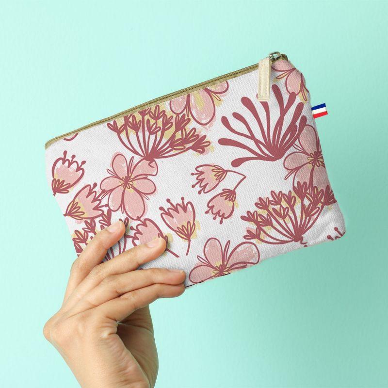 Kit pochette rose motif mamie en or