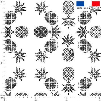 Ananas noir - Fond écru