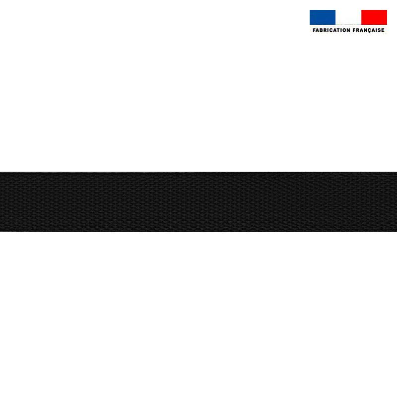 Sangle polyester aspect coton 30mm noire