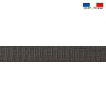 Sangle polyester aspect coton 30mm gris foncé