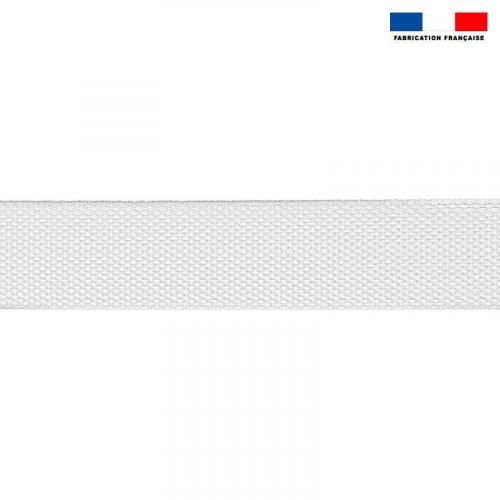 Sangle polyester aspect coton 40mm blanc