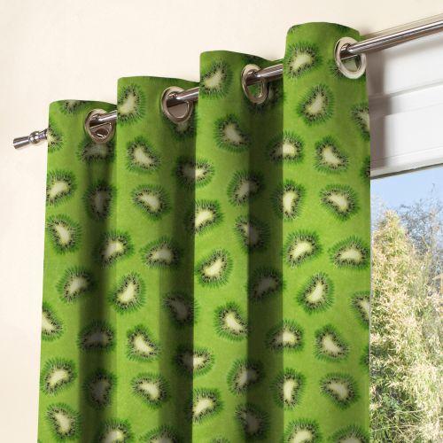 Tissu imperméable vert motif kiwi
