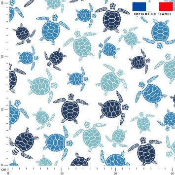 Tissu imperméable motif tortue de mer