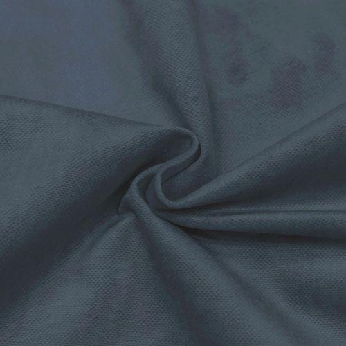 Velours otello uni bleu gris