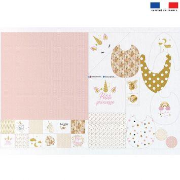 Coupon éponge kit puériculture licorne gold