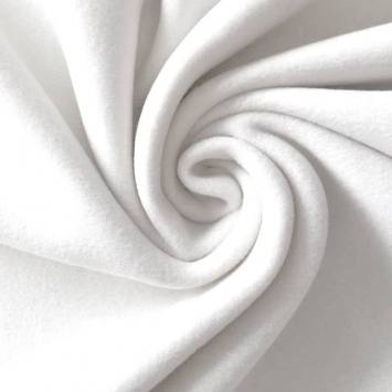 coupon - Coupon 48cm - Polaire blanche