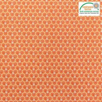 coupon - Coupon 98cm - Coton tomette motif trèfle riad