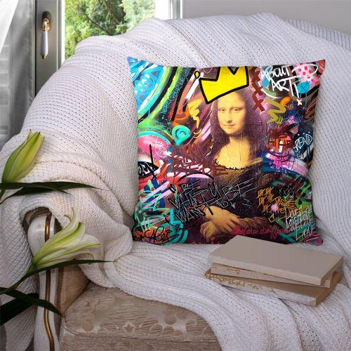 Coupon 45x45 cm multicolore motif graffiti portrait - Création Alex Z