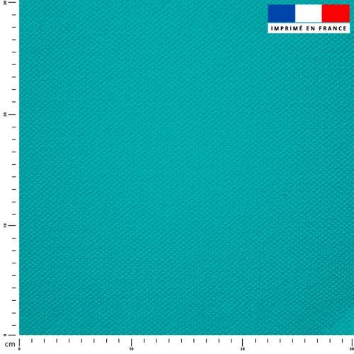 Tissu imperméable turquoise uni