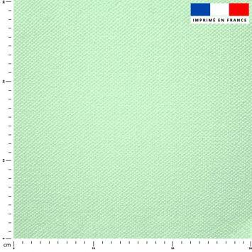 Tissu imperméable vert pastel uni