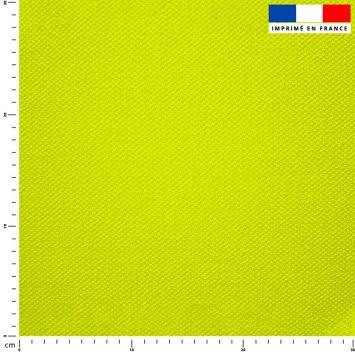 Tissu imperméable jaune fluo uni
