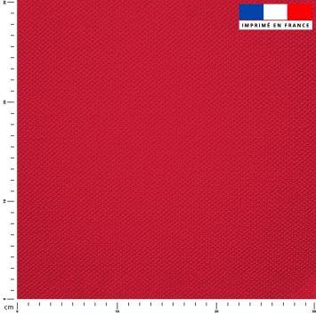 Tissu imperméable rouge pastel uni