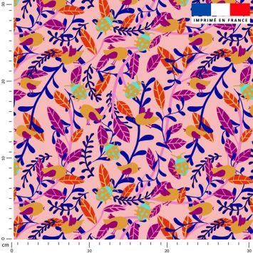 Tissu imperméable rose motif coccinelle - Création Julia Amorós