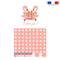 Kit pochette rose motif i love you