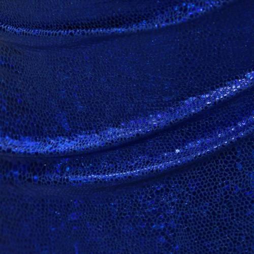 Lycra imitation serpent bleu roi