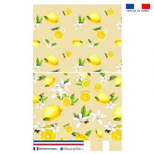 Kit pochette jaune motif citron