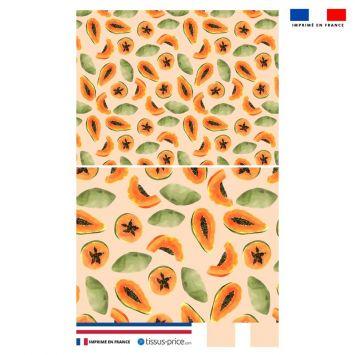 Kit pochette pêche motif papaye