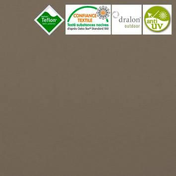 Toile extérieure Téflon grande largeur marron