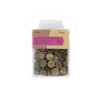 Boutons pression plastique x30 bronze