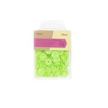 Boutons pression plastique x30 vert pomme